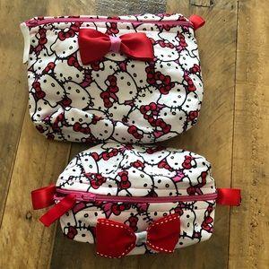 Hello kitty cosmetic Bags